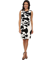 DKNYC - Printed Lightweight Jersey Ruched Dress