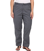 DKNY Jeans - Plus Size Belted Poplin Cargo Pants in Slate Grey