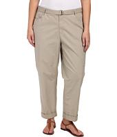 DKNY Jeans - Plus Size Belted Poplin Cargo Pants in Baja
