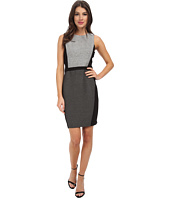 DKNYC - Ponte Pieced Fitted Sleeveless Dress