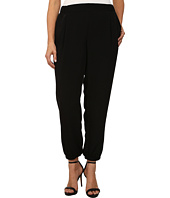 DKNY Jeans - Plus Size Solid Silky Track Pants