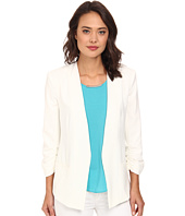 DKNYC - Open Front Ruched Sleeve Blazer