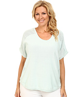 DKNY Jeans - Plus Size Mixed Mesh Curved Hem Tee