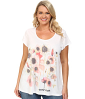 DKNY Jeans - Plus Size Spring Garden Print Tee