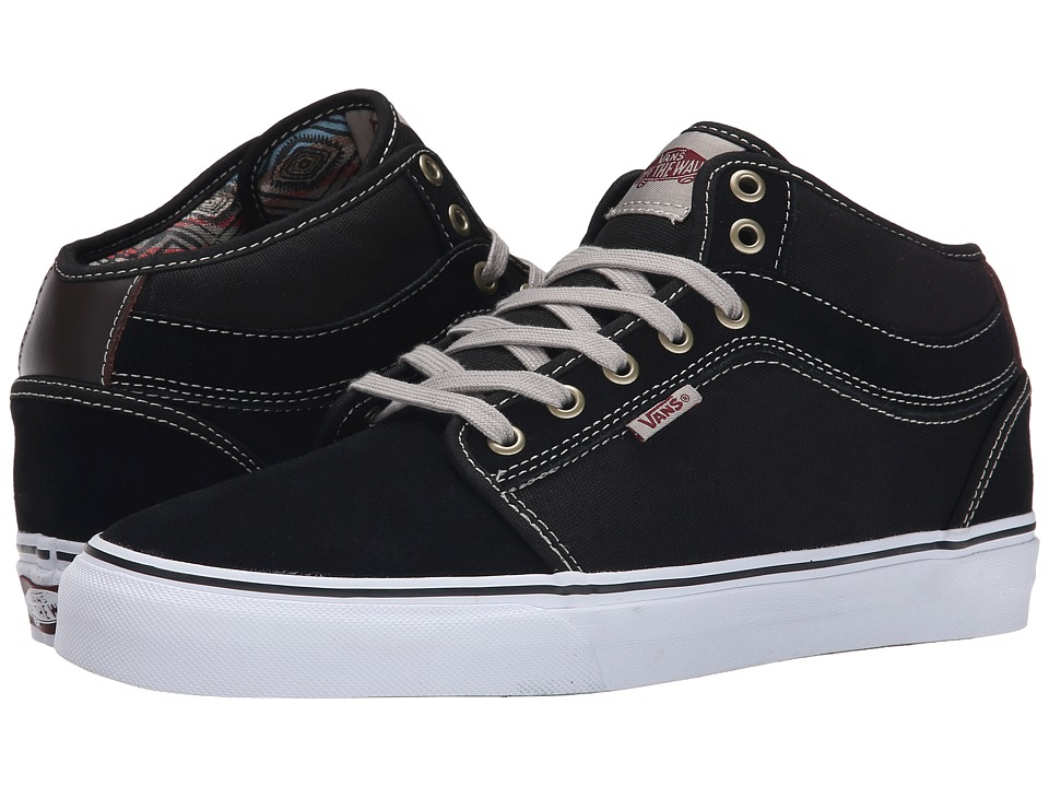 Chukka Mid Top ((Chucho Stripe) Black/White)
