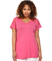 DKNY Jeans - Plus Size Embroidered Eyelet Tee