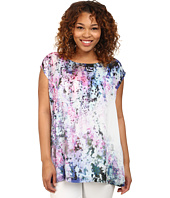 DKNY Jeans - Plus Size Sunset Florals Print Crossover Back Top
