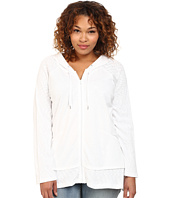 DKNY Jeans - Plus Size Zip Front Hoodie