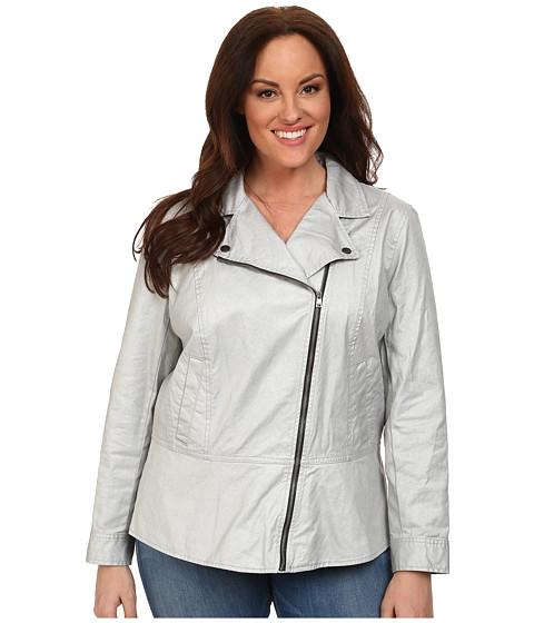 DKNY Jeans Plus Size Coated Twill Biker Jacket - 6pm.com