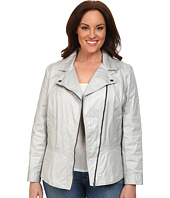DKNY Jeans - Plus Size Coated Twill Biker Jacket