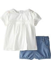 Chloe Kids - Top and Chambray Bubble Shorts Two-Piece Set (Infant)