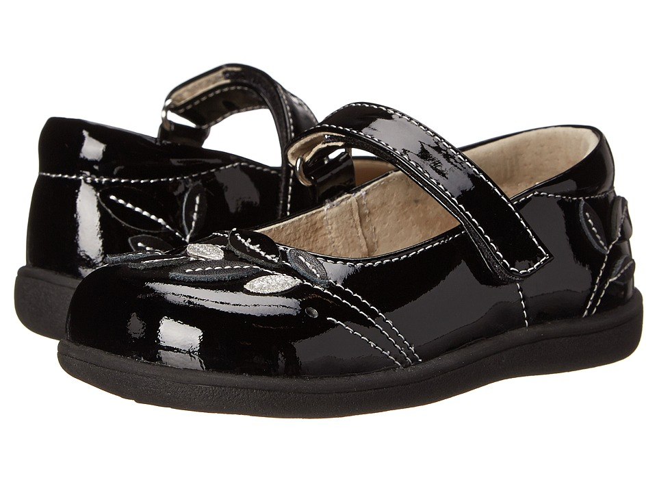 See Kai Run Kids Adeline Toddler Black Patent Girls Shoes