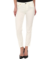 True Religion - Brooklyn Corduroy Cropped in Optic White