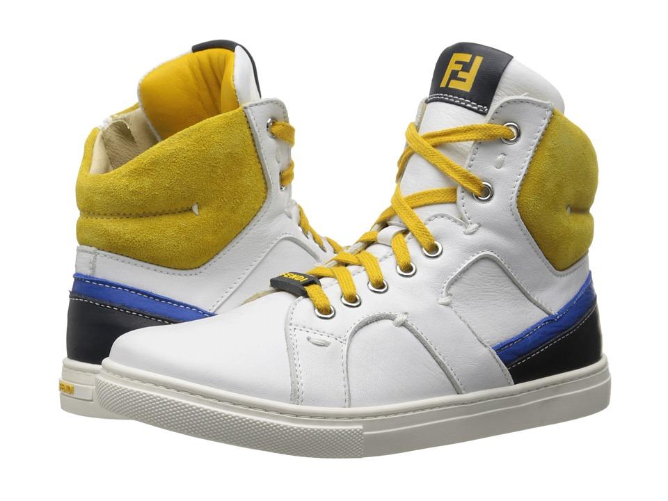 Fendi Kids Hightop Sneakers Big Kid White Boys Shoes