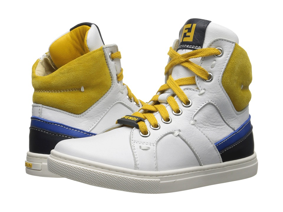 Fendi Kids Hightop Sneakers Little Kid/Big Kid White Boys Shoes