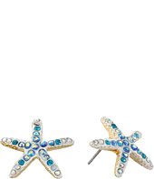 Betsey Johnson - Into The Blue Starfish Stud Earrings