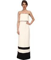 ABS Allen Schwartz - Strapless Gown w/ Stripe Hem