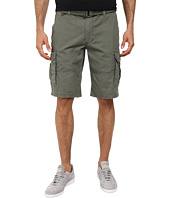 DKNY Jeans - Mini Ripstop Cargo Shorts in Dusty Olive