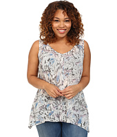 DKNY Jeans - Plus Size Tonal Butterfly Printed Tank Top