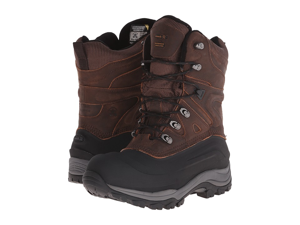Kamik Patriot5 Brown Mens Cold Weather Boots
