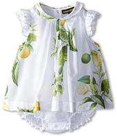 Roberto Cavalli Kids - Ruffle Sleeve Body Dress w/ Lemon Print (Infant)