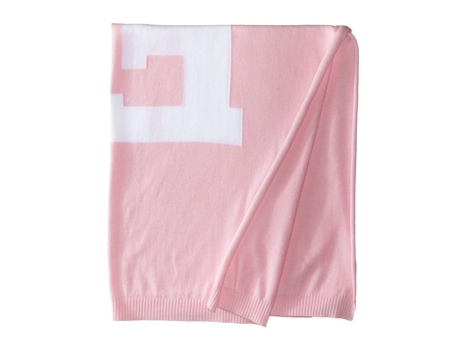 Fendi Kids Knit Blanket w/ Monogram Kids Pink Accessories Travel