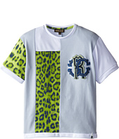 Roberto Cavalli Kids - Short Sleeve Patched T-Shirt w/ Chest Logo (Toddler/Little Kids)