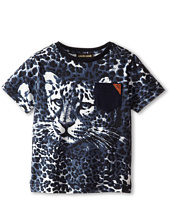 Roberto Cavalli Kids - Short Sleeve Allover Leopard Print T-Shirt w/ Leopard Face (Toddler/Little Kids)
