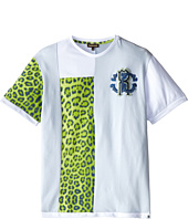 Roberto Cavalli Kids - Short Sleeve Patched T-Shirt w/ Chest Logo (Big Kids)