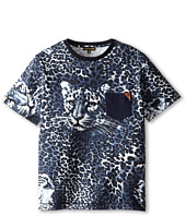 Roberto Cavalli Kids - Short Sleeve Allover Leopard Print T-Shirt w/ Leopard Face (Big Kids)