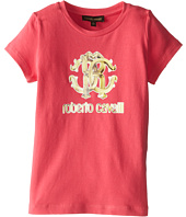Roberto Cavalli Kids - Short Sleeve Logo Tee (Toddler/Little Kids)