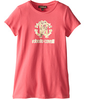 Roberto Cavalli Kids - Short Sleeve Logo Tee (Big Kids)