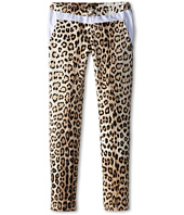 Roberto Cavalli Kids - Leopard Print Sweatpants w/ White Trim (Big Kids)