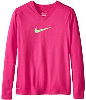 Nike Kids - Leg V-Neck Swoosh™ L/S Tee (Little Kids/Big Kids)