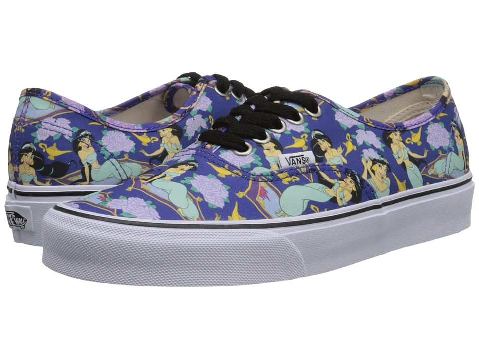 Vans - Disney Authentic ((Disney) Jasmine/Deep Ultramarine) Skate Shoes