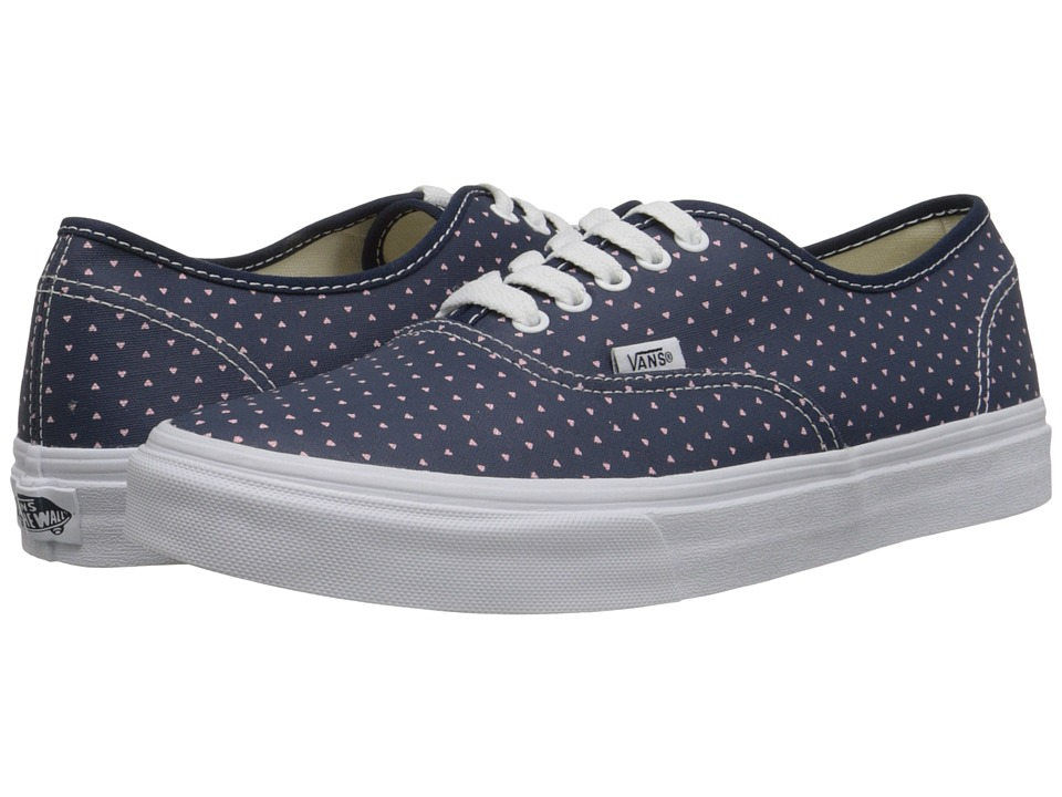 Vans Authentic Slim Micro Hearts Dress Blues/True White Skate Shoes