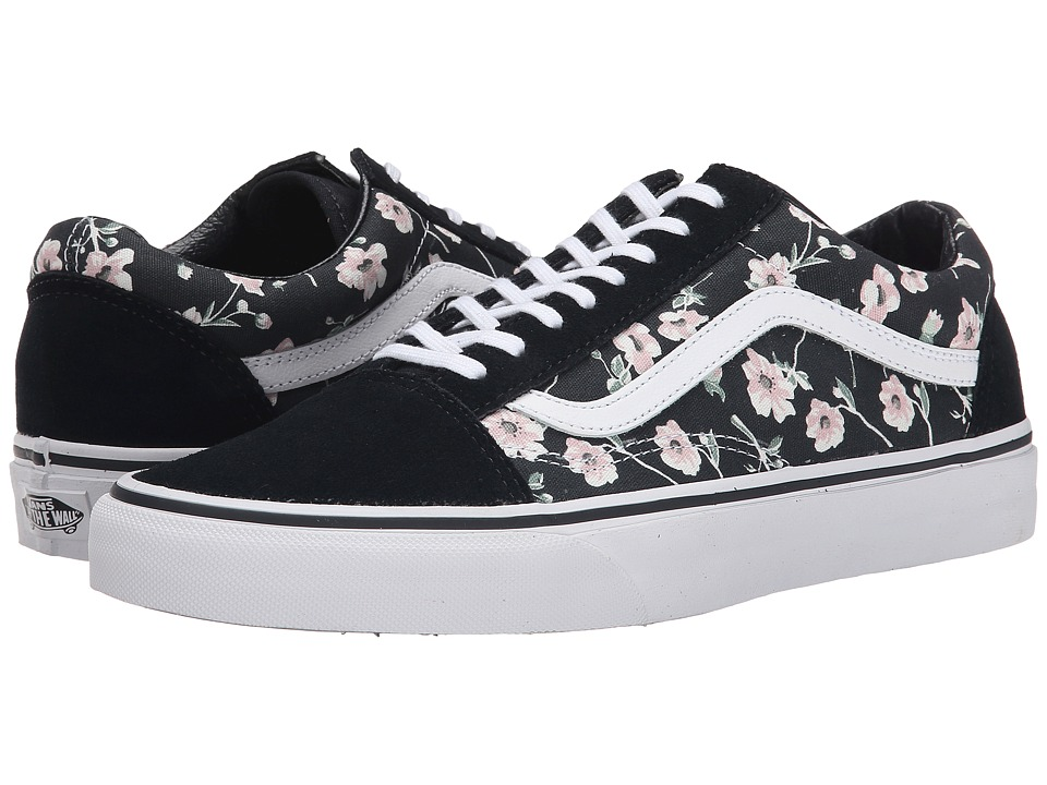 Vans Old Skool Vintage Floral Blue Graphite Skate Shoes