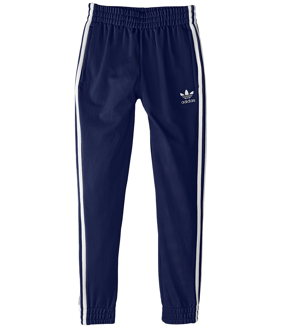 adidas Originals Kids - Superstar Fitted Track Pants (Little Kids/Big Kids) (Midnight/Indigo/White) Kids Casual Pants