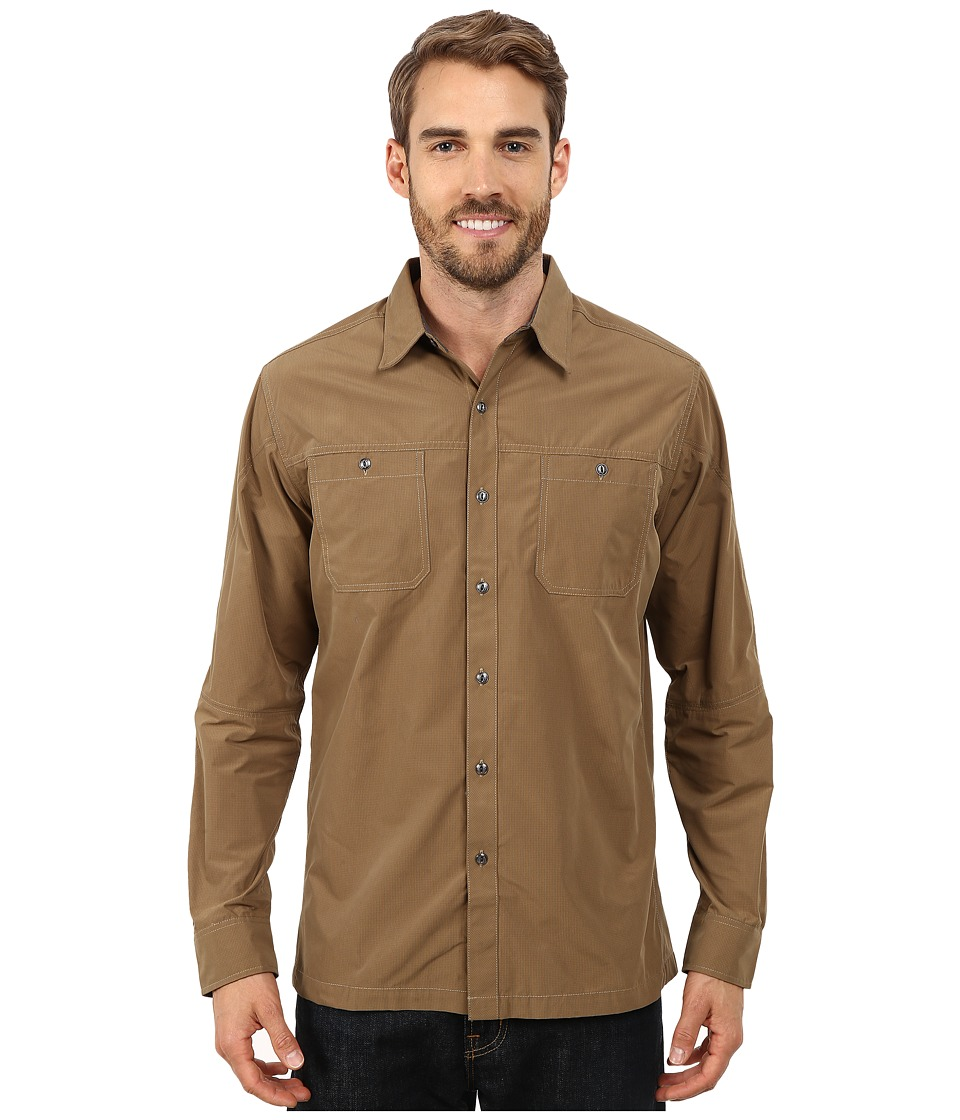 Kuhl Bakbone Long Sleeve Shirt Teak Mens Long Sleeve Button Up