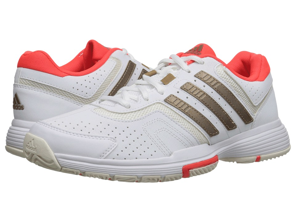 adidas - Barricade Court (White/Copper Metallic/Solar Red) Womens Tennis Shoes