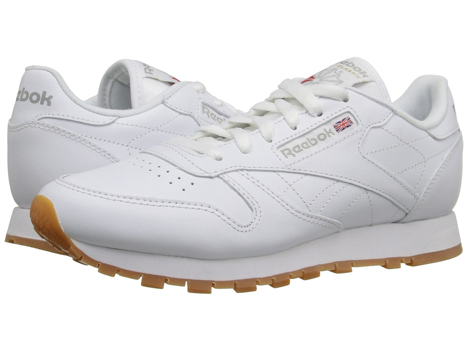 Reebok Lifestyle - Classic Leather (White/Gum) Womens Classic Shoes