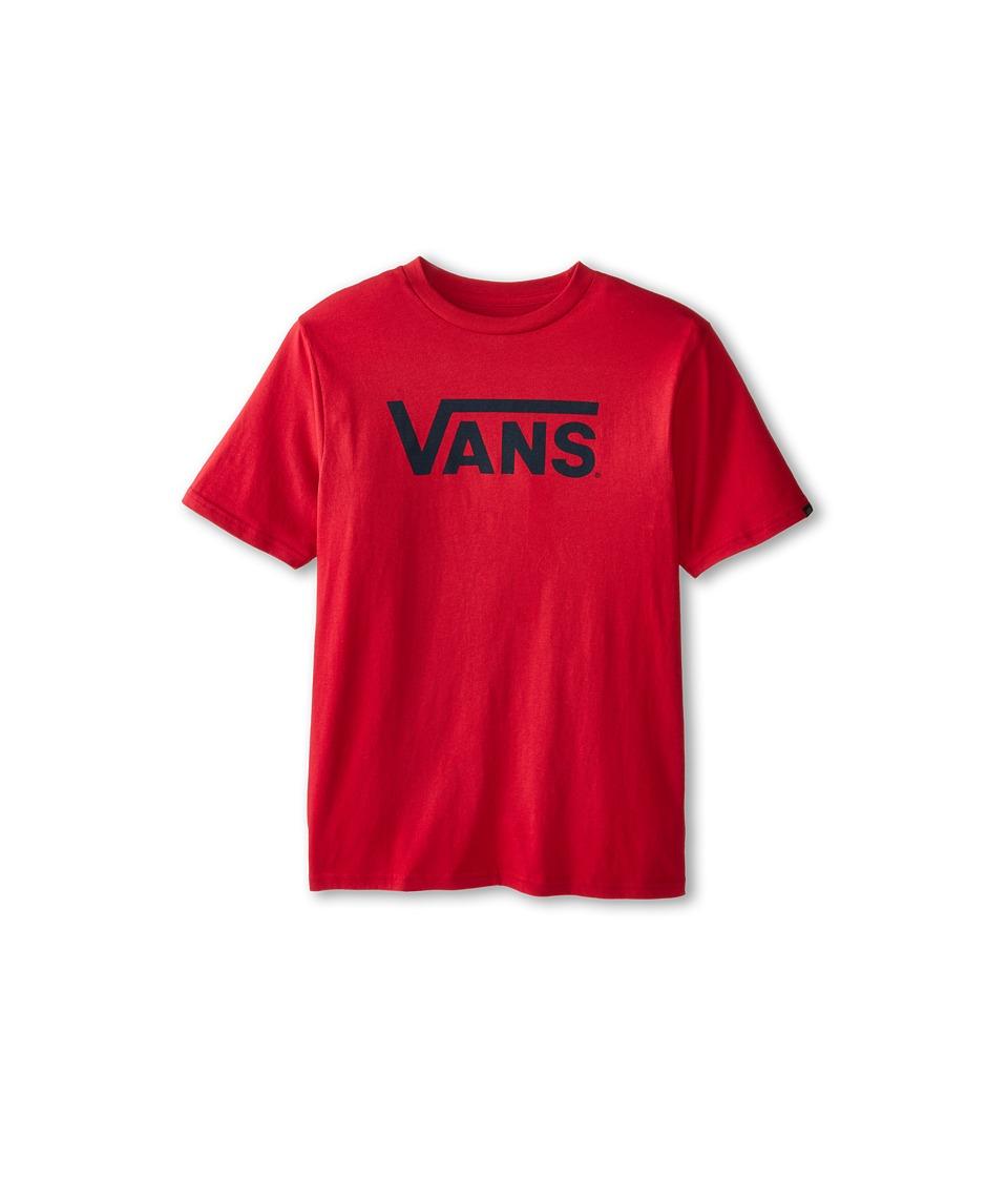 Vans Kids - Vans Classic Tee (Big Kids) (Cardinal/Navy) Boy