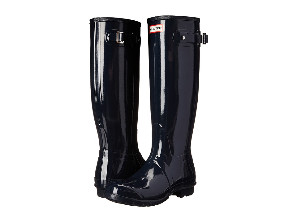 Hunter Original Gloss (Navy Gloss) Women's Rain Boots