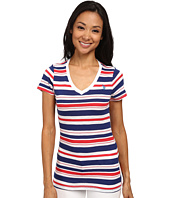 U.S. POLO ASSN. - Striped Slub V-Neck T-Shirt