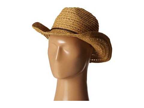 San Diego Hat Company PBC1034 Open Weave Cowboy Hat w/ Braided Trim - Natural