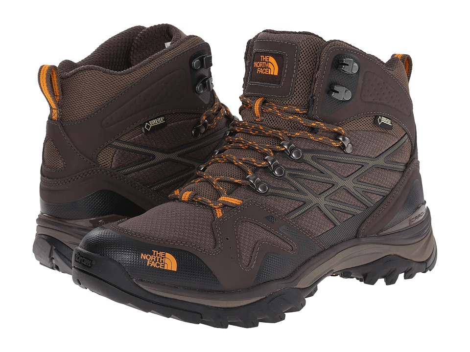 The North Face - Hedgehog Fastpack Mid GTX(r) (Shroom Brown/Brushfire Orange) Mens Hiking Boots