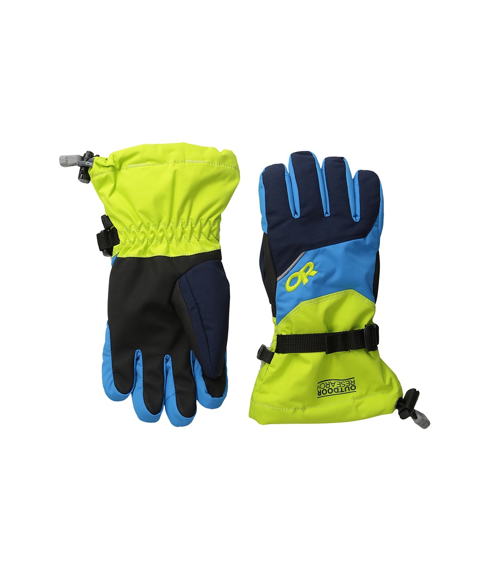 Outdoor Research - Adrenaline Gloves (Little Kid/Big Kid) (Night/Lemongrass/Hydro) Extreme Cold Weather Gloves