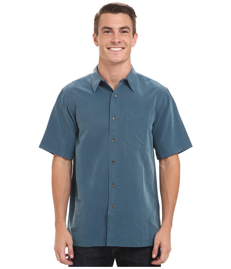 Royal Robbins Desert Pucker S/S Shirt Phoenix Blue Mens Short Sleeve Button Up