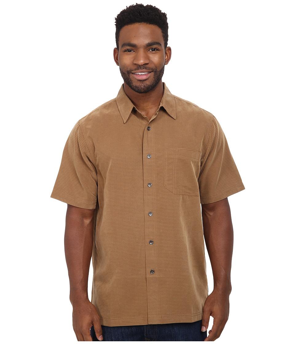 Royal Robbins Desert Pucker S/S Shirt Walnut Mens Short Sleeve Button Up