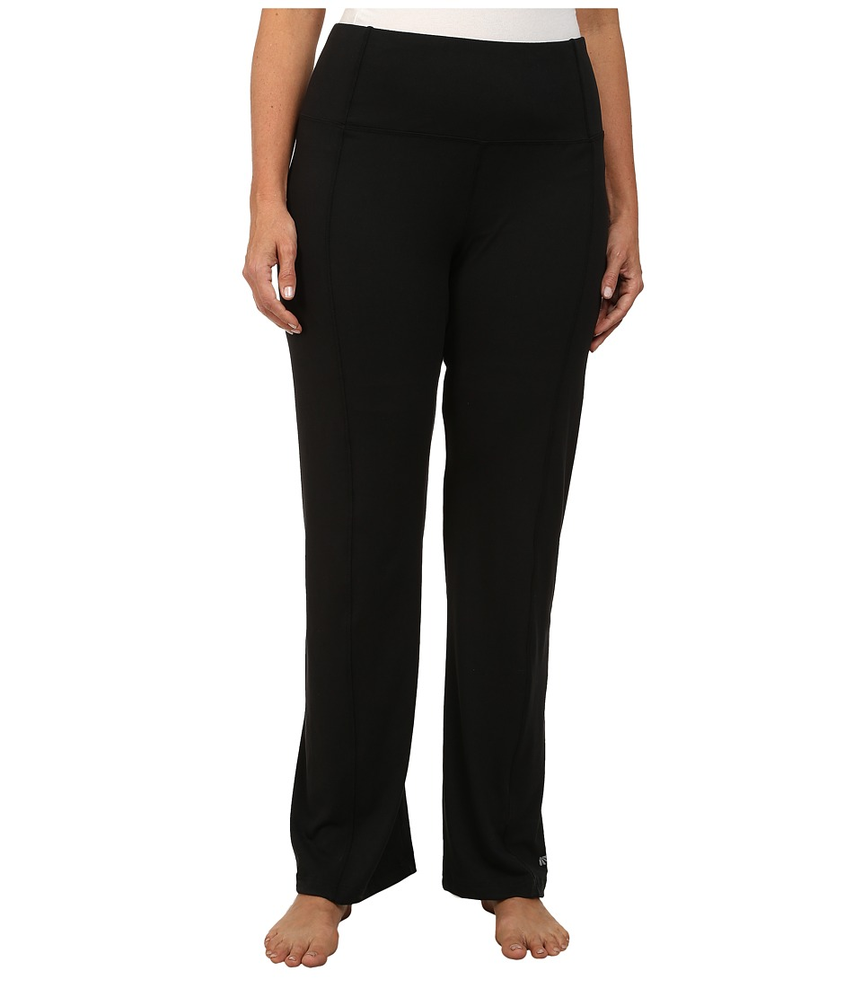 Marika Curves - Plus Size High Rise Tummy Control Slim Boot Pants (Black) Women's Workout